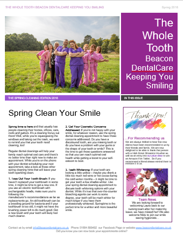 Beacon Dental Newsletters Spring 2016