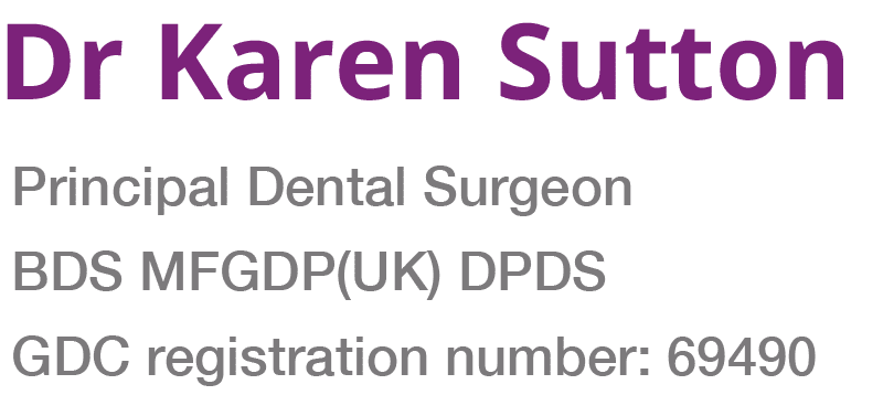 Dr karen sutton GDC number 69490