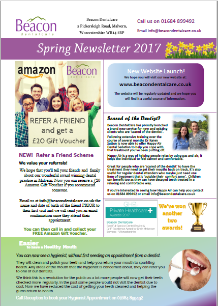 Dental Newsletters For Beacon Dentalcare In Malvern